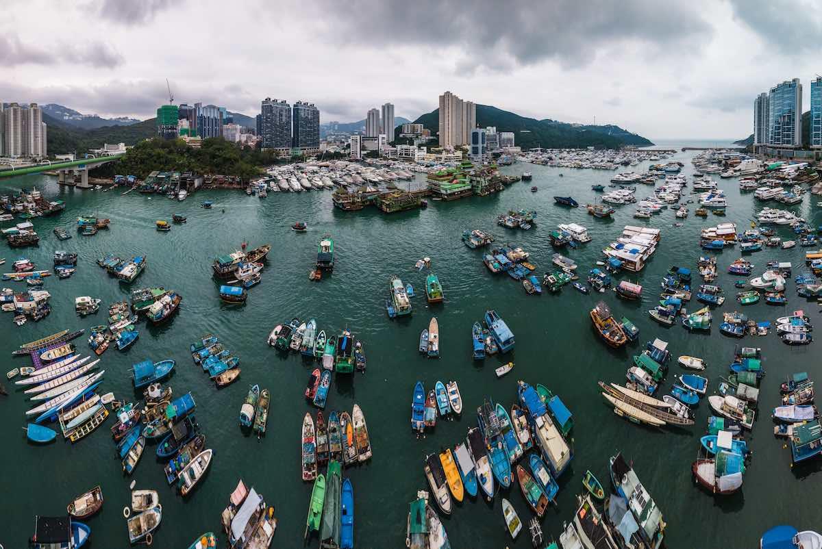 Typhoon shelter, Aberdeen, Hong Kong