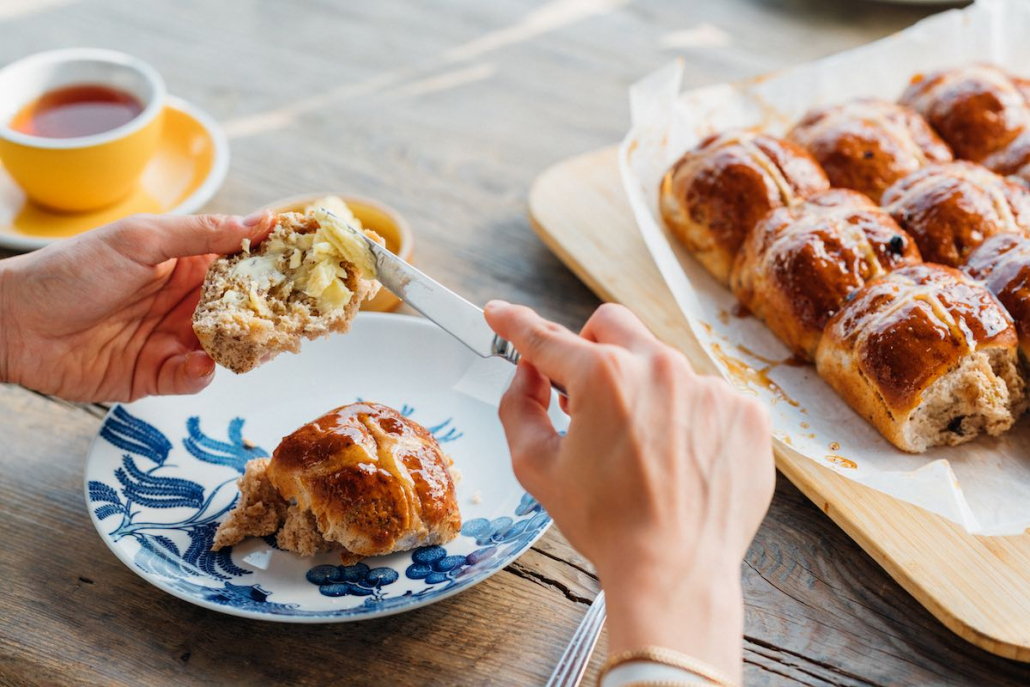 Easter Gift Guide Feather & Bone hot cross buns