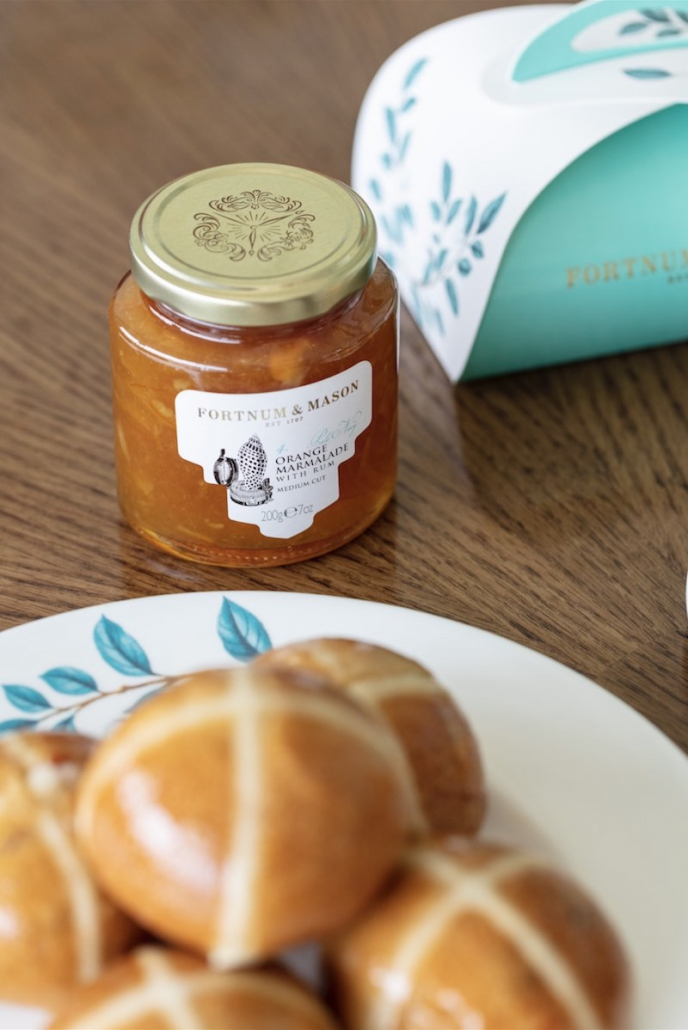 Hot Cross Buns Fortnum & Mason marmalade