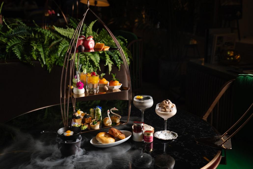 Flower Power Spring Menus Artisan Lounge tea set