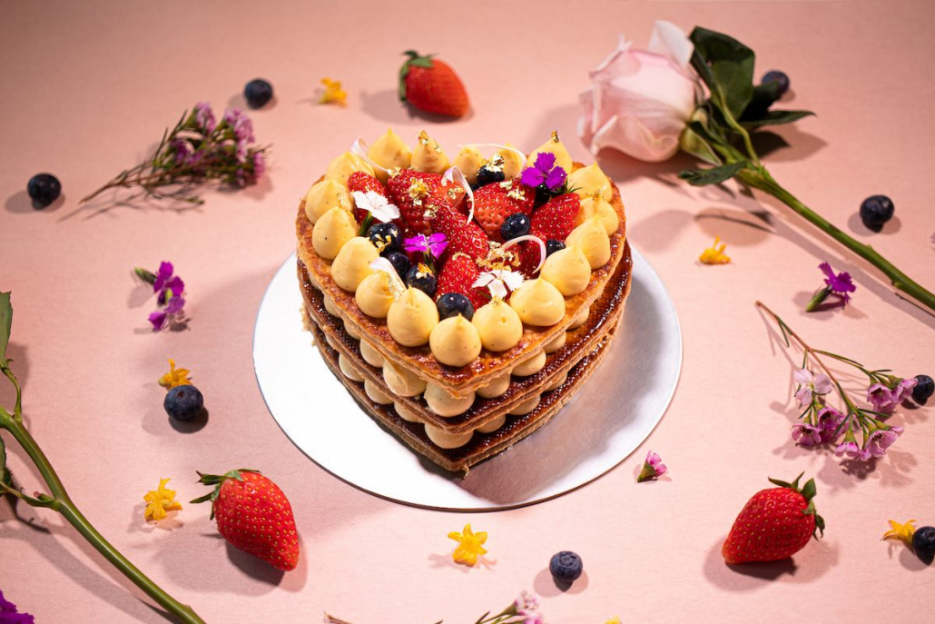 Mother's Day Gift Guide Hotel ICON strawberry mille feuille
