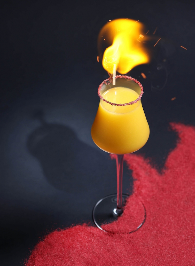 Summer Cocktails Ozone fire cocktail